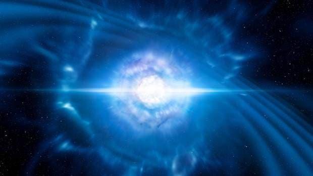 Recreación del choque de estrellas
