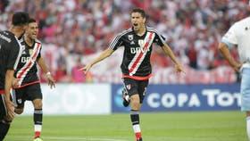 El festejo del gol decisivo de Nacho Fernández