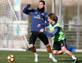 Cristiano entrenó hoy con el resto del equipo. Zidane espera contar con él de cara al extenso calendario que le espera al Real Madrid en 2017