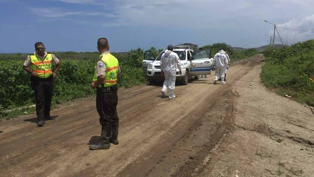 Los peritos estuvieron esta mañana en el sitio en el que fueron hallados los dos cuerpos de las turistas argentinas. Foto: Omar Sotomayor