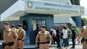 La comisaría de Curitiba, donde el fiscal de caso brindó una conferencia de prensa