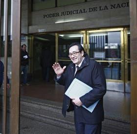Quiroga, el ex socio de Lázaro Báez, ayer en los tribunales de Retiro