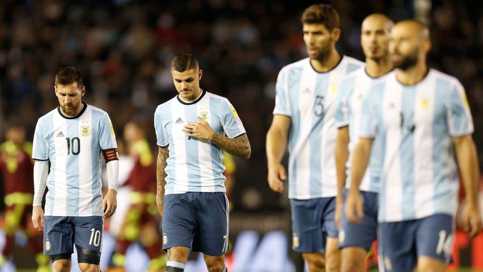 Argentina empató ante Venezuela, peligra su clasificación al mundial de Rusia. Foto: LA NACION / Fabián Marelli