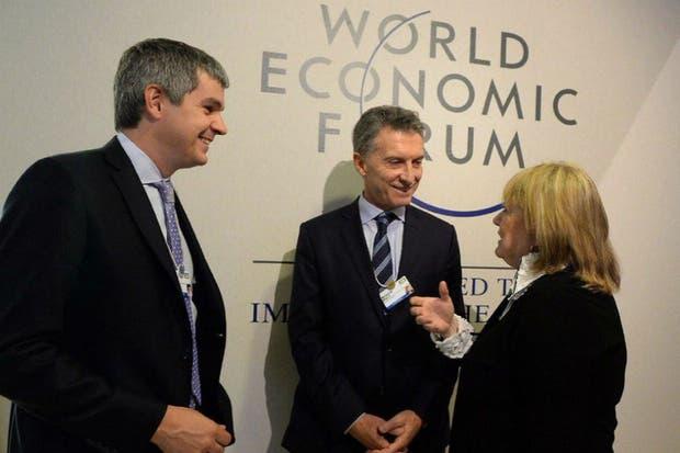 Marcos Peña participó de las reuniones con importantes empresarios que asistieron al Foro de Davos