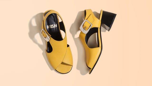 Zapatos de cuero sin talón (Mishka).