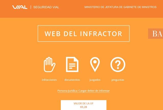 La web del infractor, una manera rápida para consultar