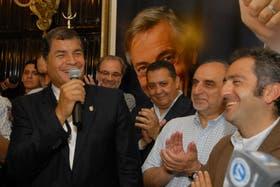 Correa visitó la Casa Patria Grande Néstor Kirchner