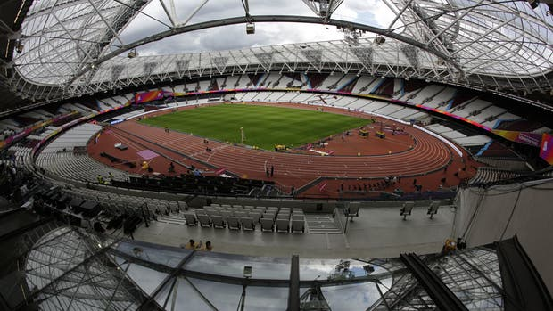 La estampa del estadio Queen Elizabeth Olympic Park, en Londres, listo para recibir el Mundial de atletismo
