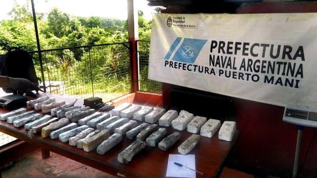 El cargamento de cocaína tenía como destino Brasil