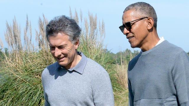 Macri y Obama se encontraron en el Buenos Aires Golf Club, un club privado en Bella Vista