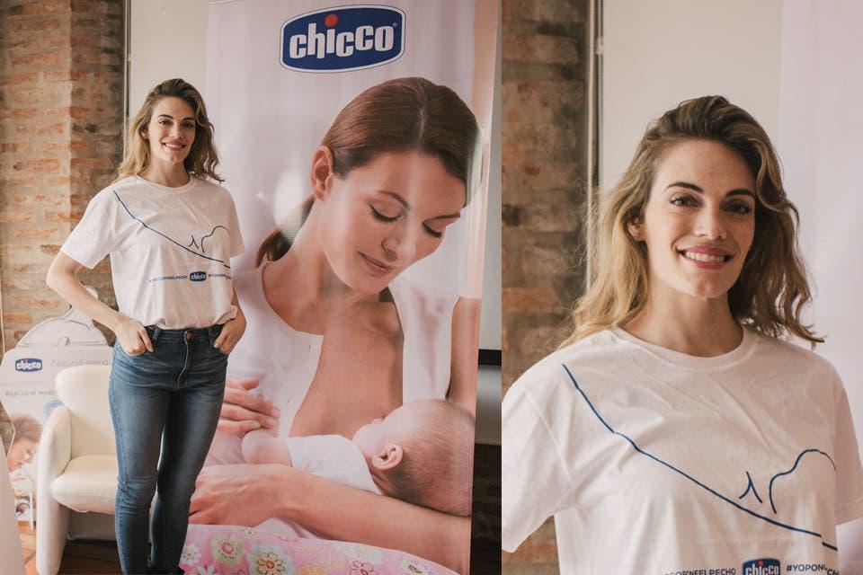 Fana de la lactancia materna, Emilia Attias se sumó a la campaña de Chicco. Foto: OHLALÁ!