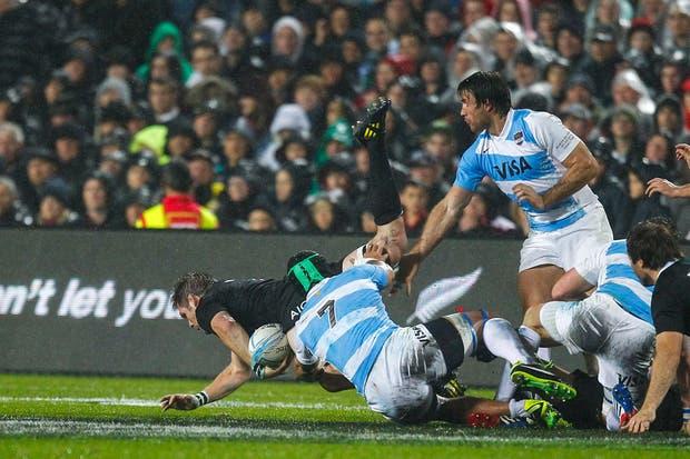 Los tackles de la Argentina.  Foto:LA NACION /Rodrigo Néspolo / Enviado especial