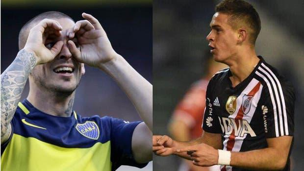 Benedetto, el goleador de Boca y Santos Borré, quien será titular ya que Gallardo reservará a la mayoría de los jugadores pensando en Lanús