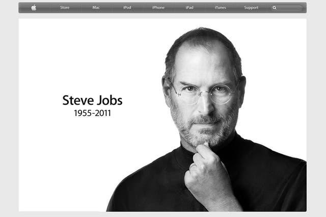El sitio online de Apple despide a Steve Jobs, el co-fundador de la empresa