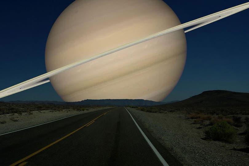 Cómo se vería Saturno.