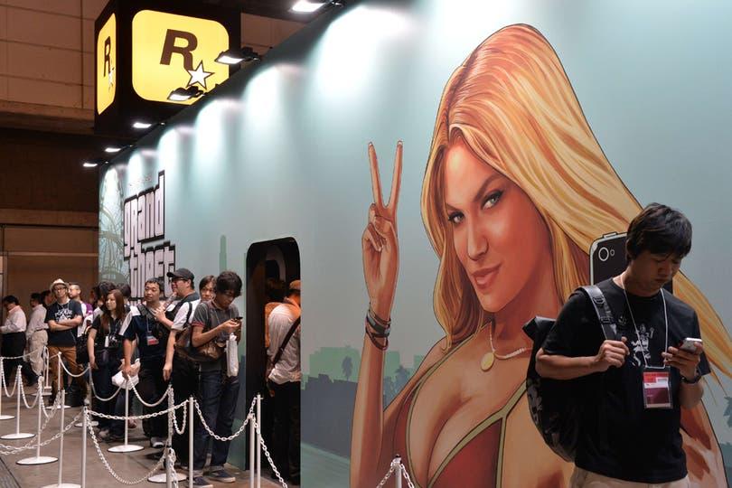 El nuevo juego de Rockstar, Grand Theft Auto V también fue un furor en la Tokyo Game Show.