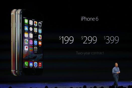 Los precios del iPhone 6. Foto: EFE