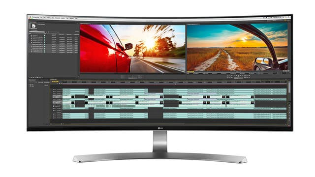 "Monitor LG curvo LED UltraWide WQHD IPS de 34"" 34UC98-W"