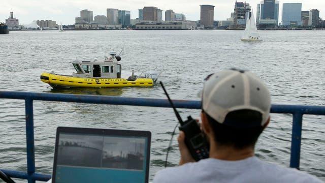 El barco experimental sin tripulación de Sea Marine Robotics