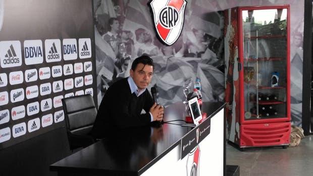 Marcelo Gallardo antes del clásico ante Racing
