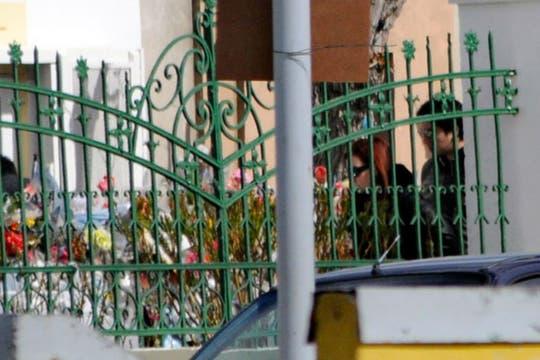 La Presidenta recorrió el mausoleo en el cementerio de Río Gallegos. Foto: OPI Santa Cruz