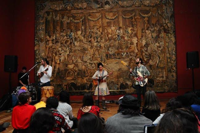 Música en vivo en las sala dedicada al barroco. Foto: Gentileza Ministerio de Cultura de la Nación