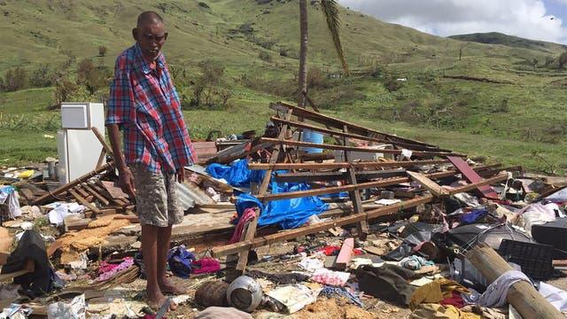 Más de 20 muertos en las islas Fiji tras el paso del ciclón Winston. Foto: EFE