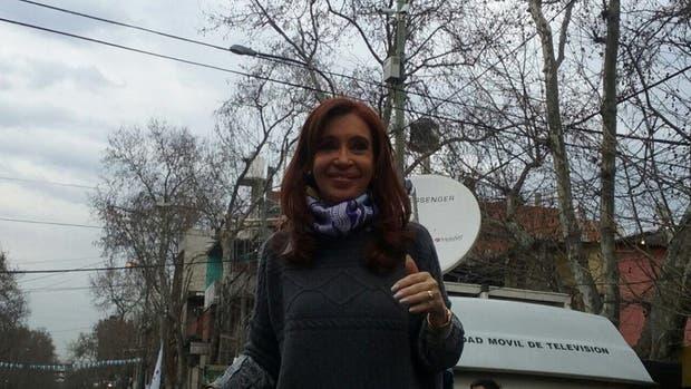 Cristina Kirchner estuvo presente en la villa 31