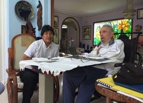 Evo Morales pays a visit to Fidel Castro