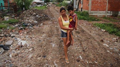 El barrio Las Palmeras, cerca de La Plata, surgido en 2008