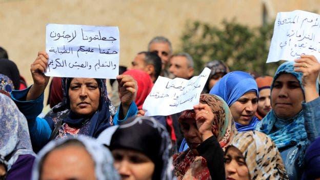 Los palestinos protestaron recientemente por su sufrimiento en Líbano. El gobierno allí no les permite prácticamente recibir ayuda ni trabajar