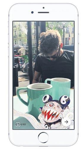 Habilitan ahora a los usuarios de Messenger a usar como efecto de cámara diseños inspirados en obras de Murakami