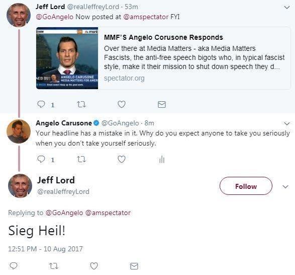 La CNN despidió a Jeffrey Lord por realizar un saludo nazi en Twitter