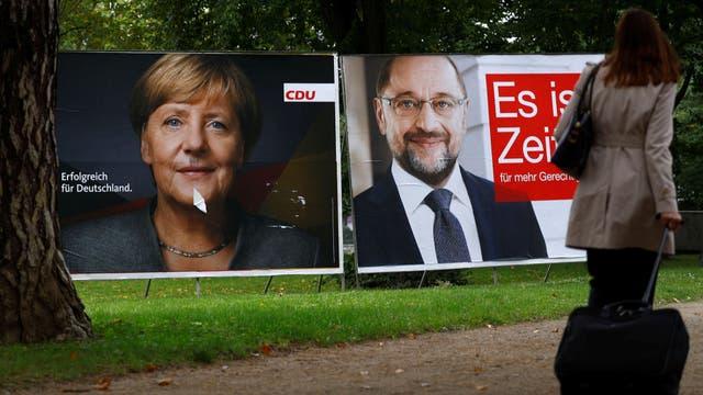 La principal disputa en la campa?a fue entre Merkel y Schulz