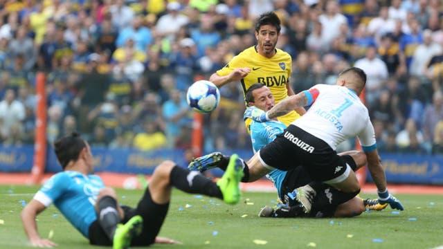 El gol en contra de Acosta (1-0)