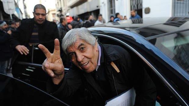 El líder sindical Hugo Moyano