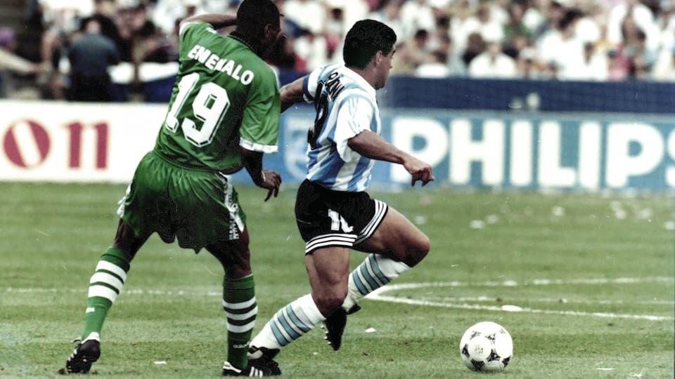 25-6-1994: otro recuerdo de su último partido mundialista. Foto: LA NACION / Francisco Pizarro