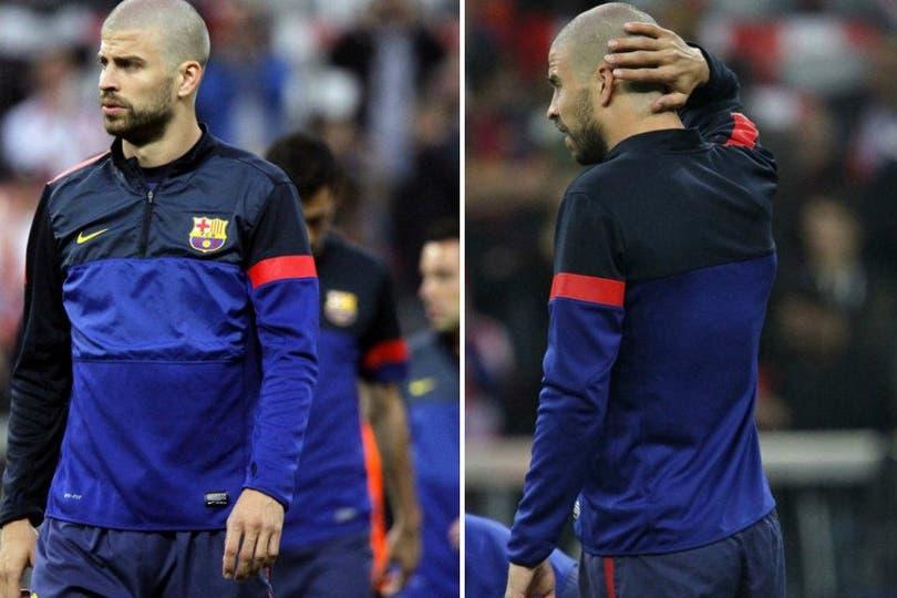 Piqué y Guardiola