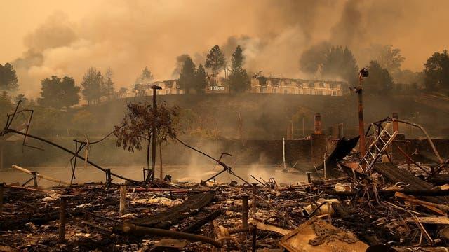 El fuego azota gran parte del estado de California, en Estados Unidos