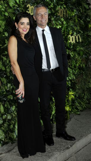 Verónica Varano fue muy elegante junto con su pareja, Martín Lombardero. Foto: Gerardo Viercovich