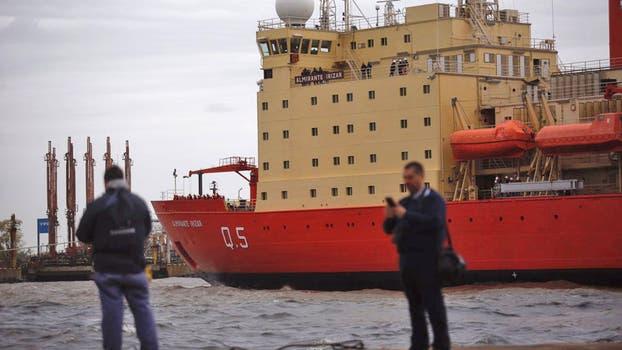 Rompehielos argentino Irízar zarpa tras permanecer diez años varado
