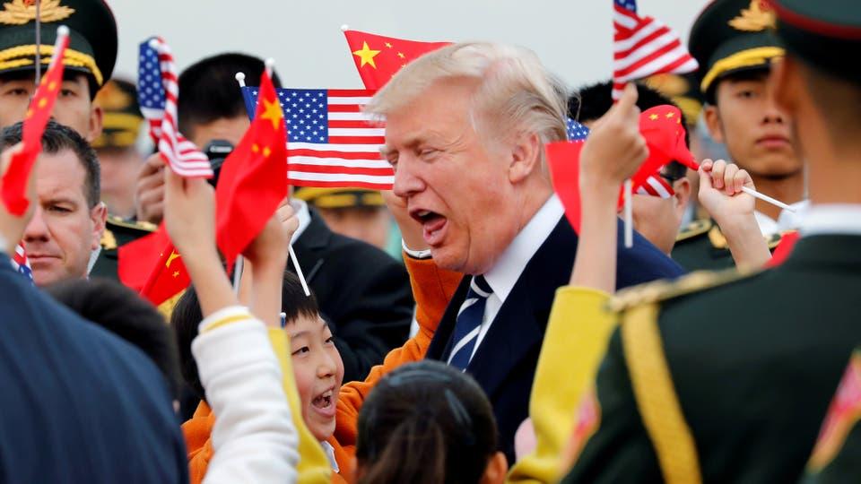 Donald Trump visita China en el marco de la gira por cinco países de Asia. Foto: Reuters / Jonathan Ernst