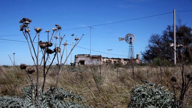 Ubicado en el sur de la provincia de Buenos Aires, supo tener 600 habitantes. Foto: LA NACION / Ricardo Pristupluk