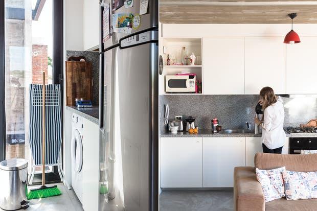 Luminoso y con mucho lugar de guardado, el lavadero permite ocultar los elementos de limpieza y hasta cabe la heladera.  /Daniel Karp