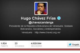 Cuenta de Twitter del presidente de Venezuela