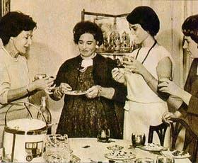 Doña Petrona en Buenas Tardes, Mucho Gusto, con Ana María Baldi, Maricarmen y Mercedes Vitón de Doblas