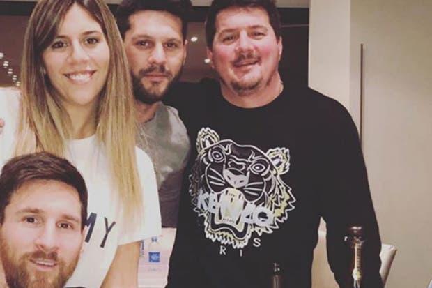 Los cuatro hermanos Messi; Rodrigo está a la derecha de la imagen