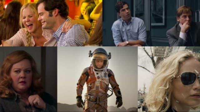 Las nominadas en comedia son: Trainwreck, La gran apuesta, Spy, Misión rescate y Joy: el nombre del éxito