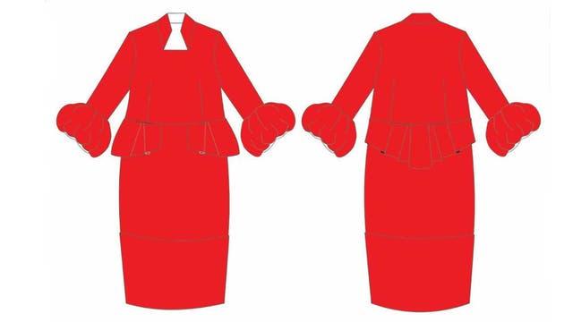 El mismo tono e idéntico estilo (péplum), estos detalles generaron los cuestionamientos con respecto a la originalidad de la prenda