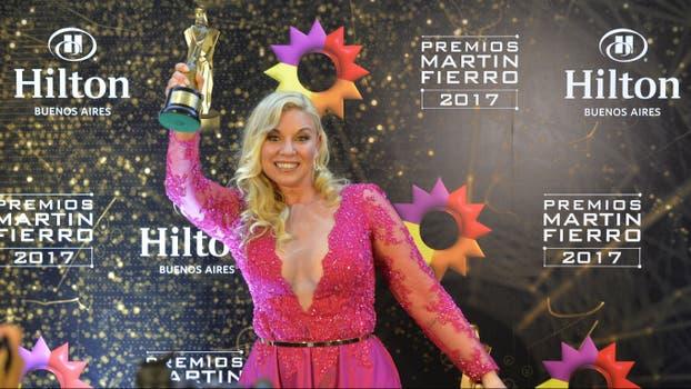 Maite Zumelzú, premiada y sonriente. Foto: LA NACION / Gerardo Viercovich